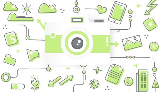 Green vector design Premium Vector