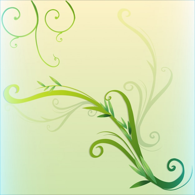 Green vine leaf border design Vector | Free Download