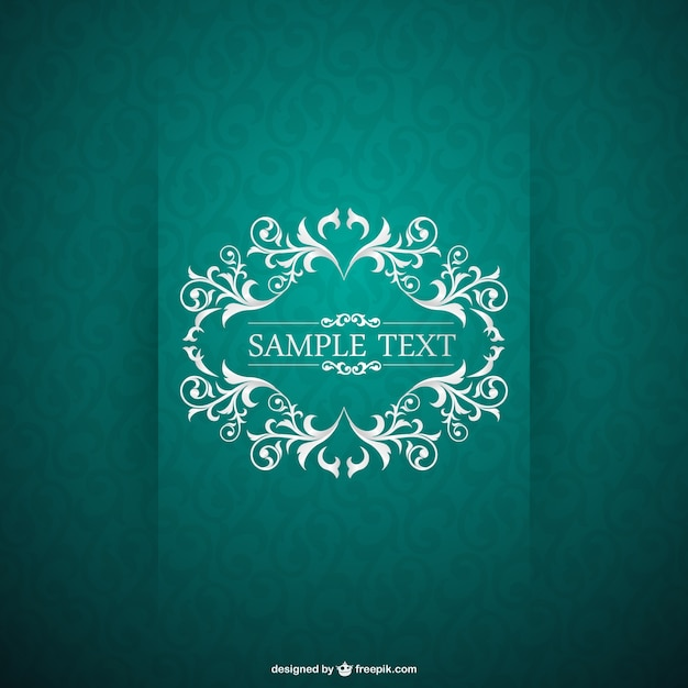 Green vintage card Free Vector