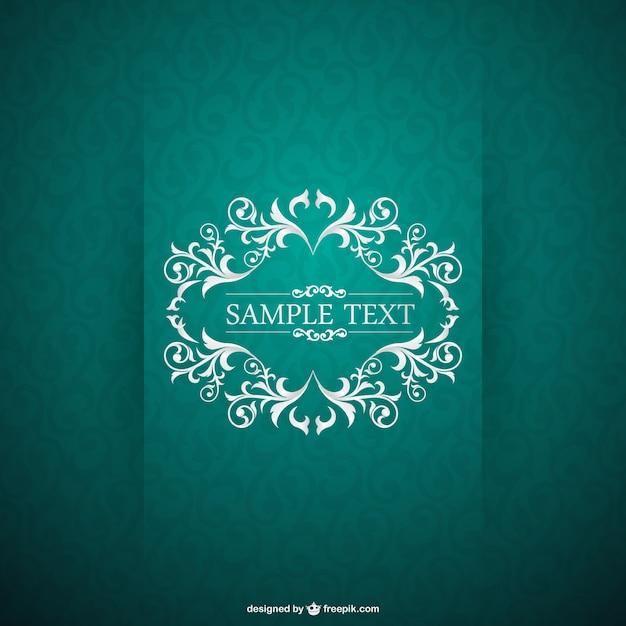 Green vintage card Vector | Free Download