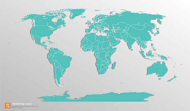 Green vintage world map vector premium download green vintage world map premium vector gumiabroncs Choice Image