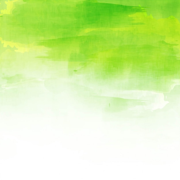Green watercolor background design Free Vector