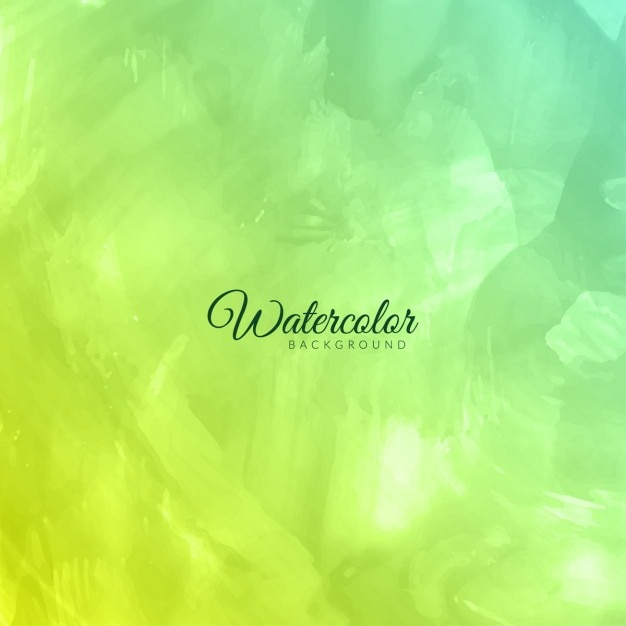 Green watercolor background Free Vector