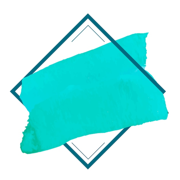 Green watercolor banner design vector Free Vector