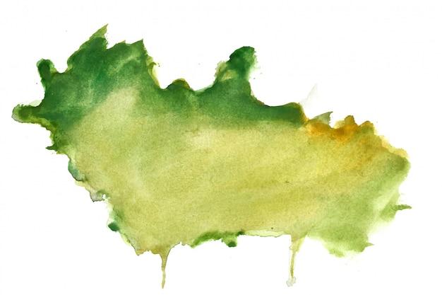 Зеленая акварель всплеск пятно текстуру фона Бесплатные векторы