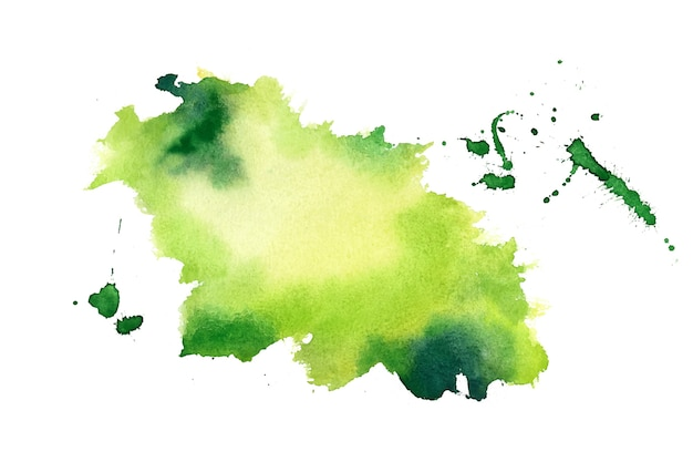 Green watercolor splash stain texture background Free Vector