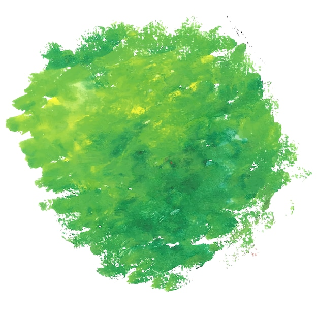 Green watercolor stain background Free Vector
