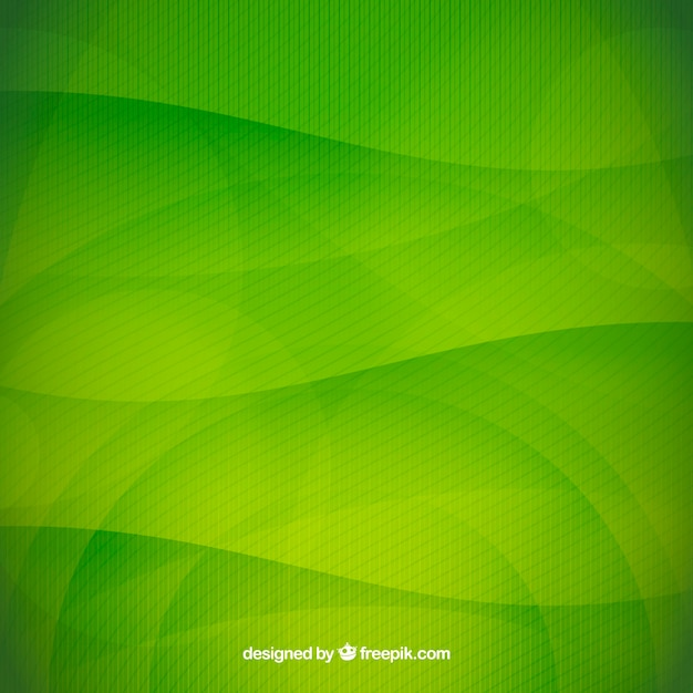 Green wavy background Free Vector