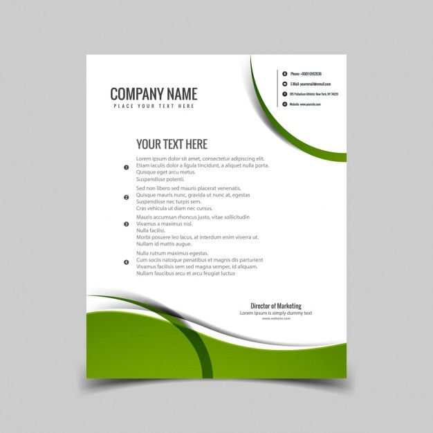 Green wavy letterhead vector free download green wavy letterhead free vector spiritdancerdesigns