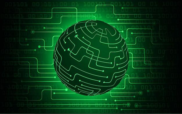 Green world cyber circuit future technology concept background Premium Vector