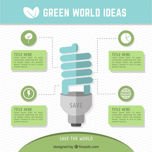 Infographic Ideas infographic ideas : Green world ideas infographic Vector | Free Download