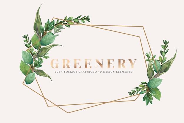 Greenery wallpaper Free Vector