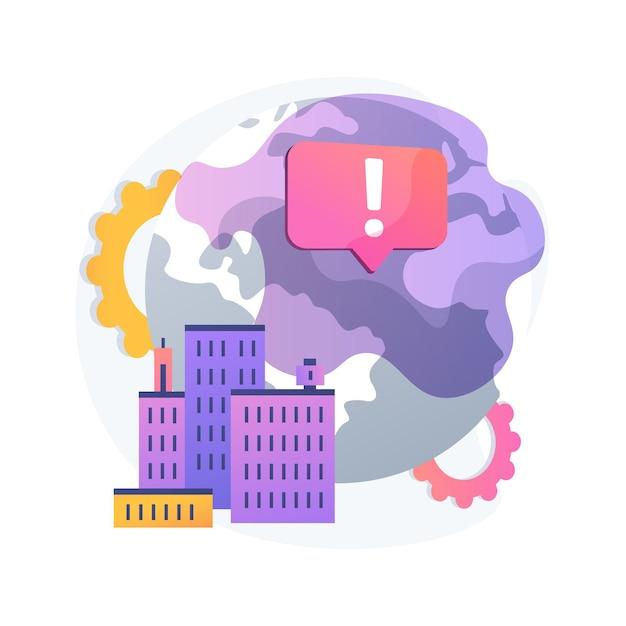 Illustrazione di concetto astratto di emissioni di gas serra. effetto serra, emissioni di co2, gas tossici, problema ecologico, inquinamento atmosferico, smog, movimento ambientale Vettore gratuito
