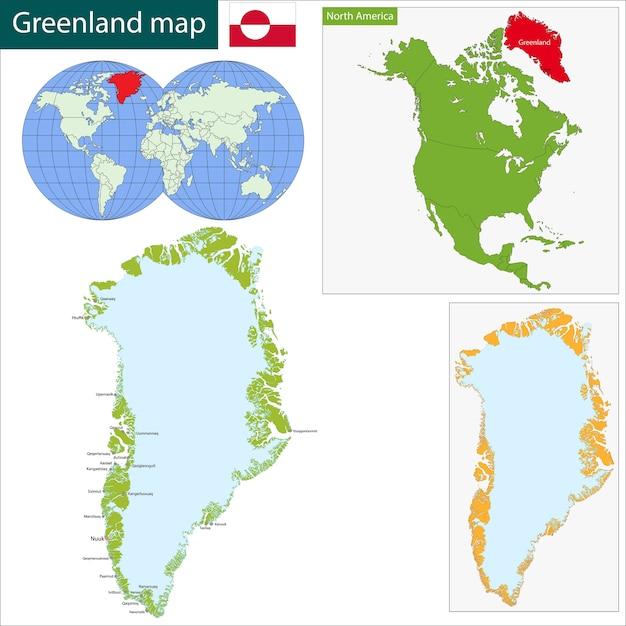 Greenland Map Vector Premium Download - Greenland map