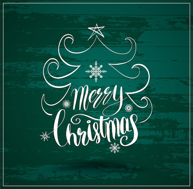 Greeting card for christmas and happy new year lettering Premium Vector
