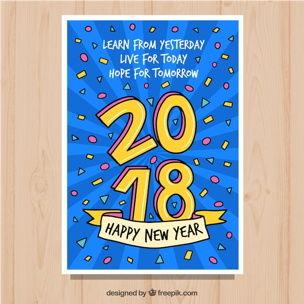 Greeting card for a happy new year 2018
