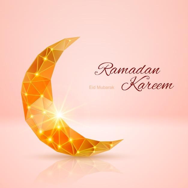 Открытка священного мусульманского месяца рамадан Premium векторы