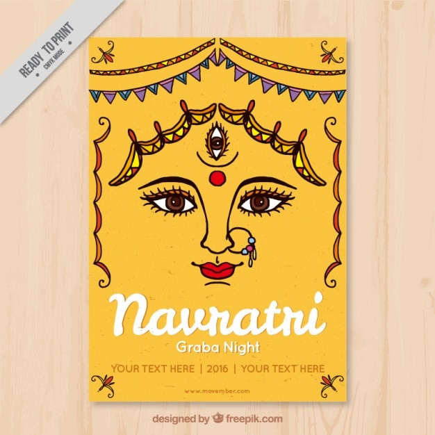 Greeting card of navratri festival vector free download greeting card of navratri festival free vector m4hsunfo