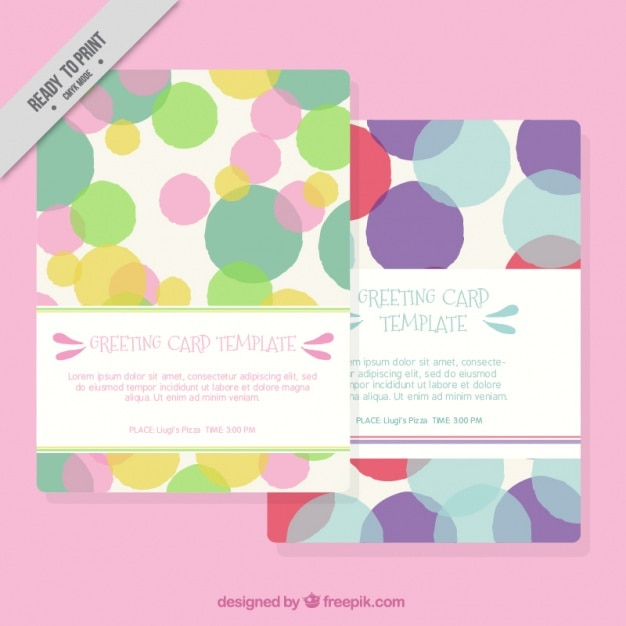 Greeting card templates with confetti vector free download for Greeting cards templates free downloads