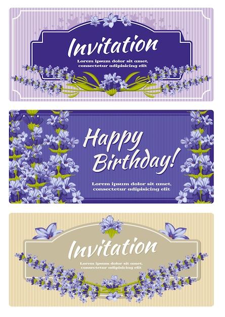 Greeting card wedding invitation vector template Premium Vector