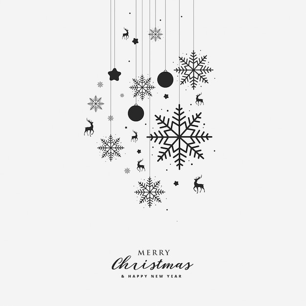 Greeting card with christmas element Premium Vector