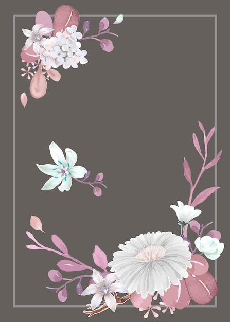 Greeting card with floral theme Free Vector