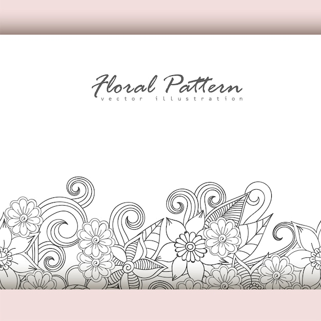 Greeting card with flowers, watercolor. vector frame Free Vector