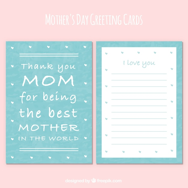 Greeting card with mothers day message vector free download greeting card with mothers day message free vector m4hsunfo