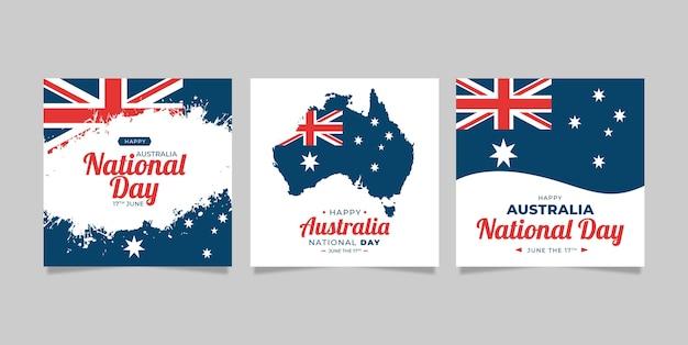 Biglietti di auguri pack australia day Vettore gratuito