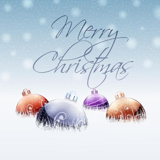クリスマスカードの挨拶。 Premiumベクター