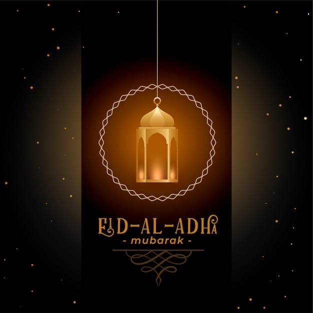 Greeting design for eid al adha festival Free Vector