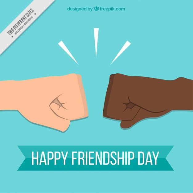 Greeting friendship background Free Vector