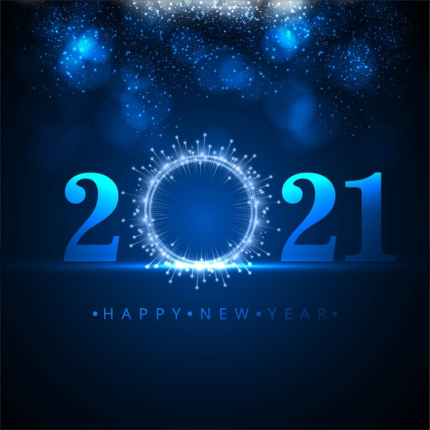 Greeting happy new year 2021 background Free Vector