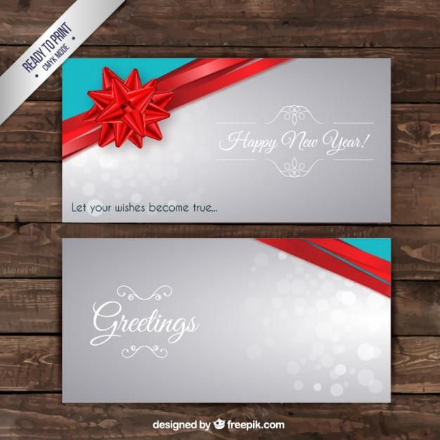 Greeting new year card Vector | Free Download