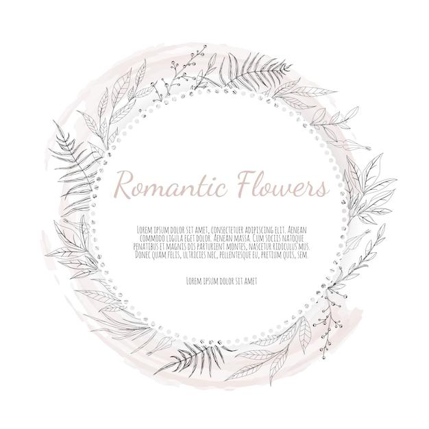 Greeting, postcard wedding invite template. Premium Vector