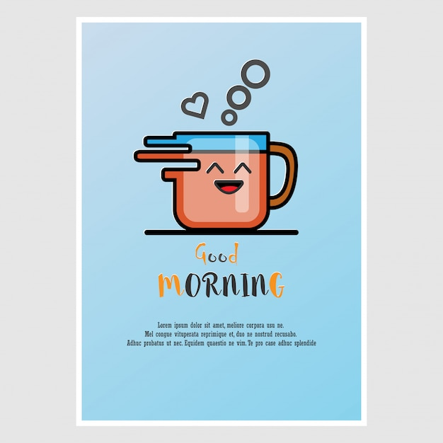 Greetings card in the morning vector premium download greetings card in the morning premium vector m4hsunfo
