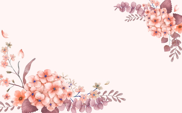 Greetings card with pink and floral theme Free Vector