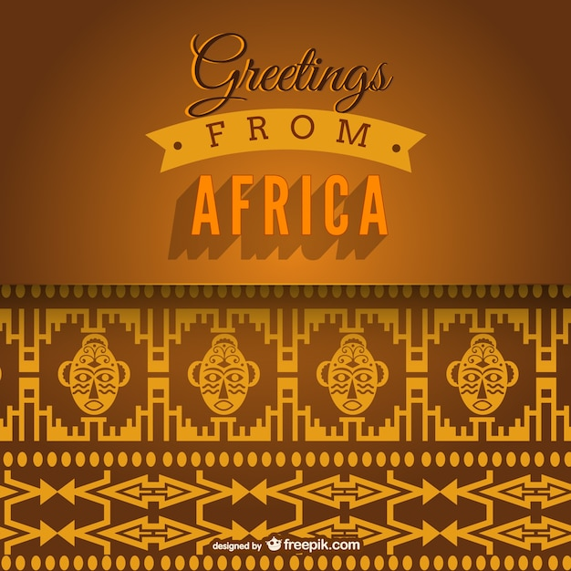 Greetings from Africa vector Free Vector