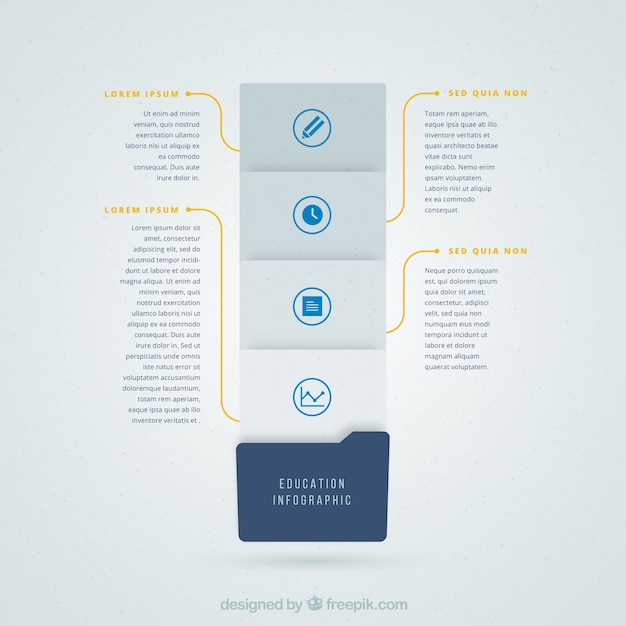 Grey and blue infography for education