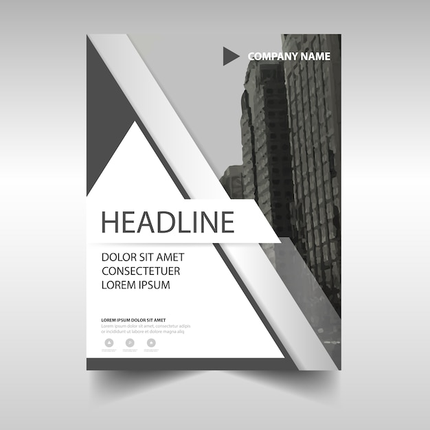 annual report flyer template with bright geometric design report – Report Cover Page Templates Free Download