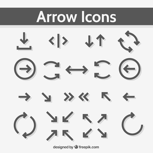 grey arrow icons vector