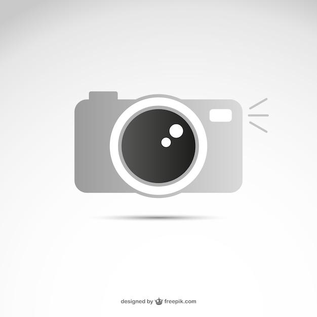 Grey camera logo Vector | Free Download