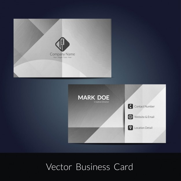 Grey color business card template vector free download grey color business card template free vector reheart Choice Image