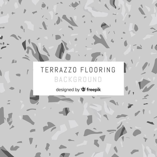 Grey flat terrazzo floor background Free Vector