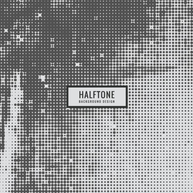 Grey halftone Background Free Vector