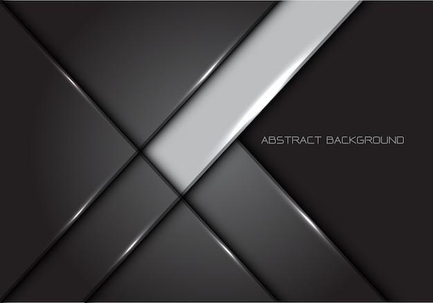 Grey line glossy metal background. Premium Vector
