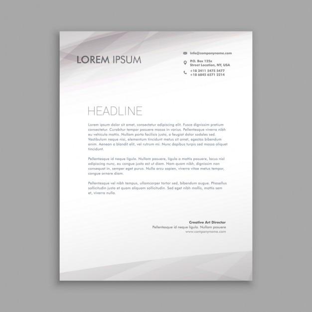 black and white letterhead design