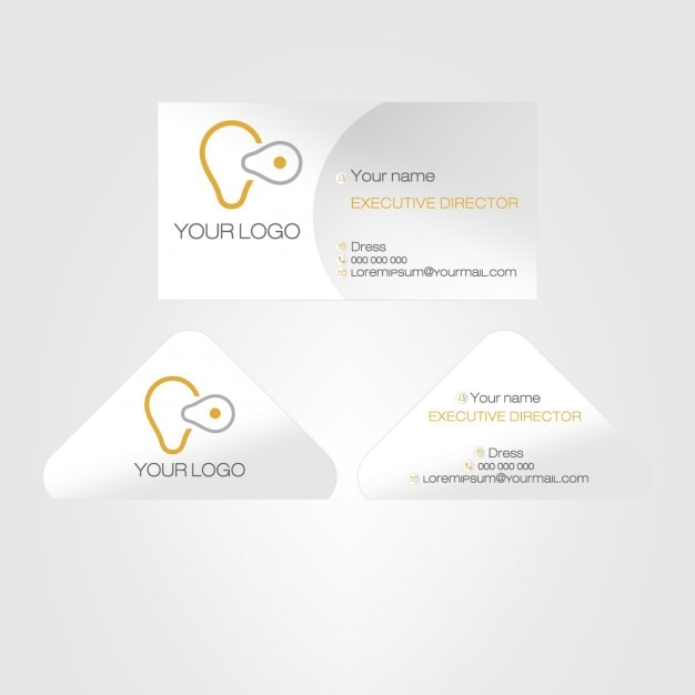Grey modern business card
