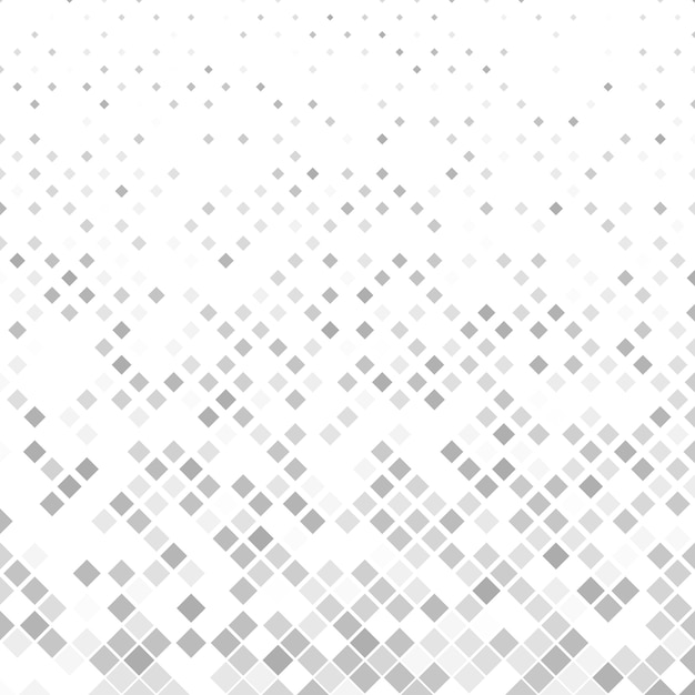 Grey square pattern background - vector illustration Free Vector