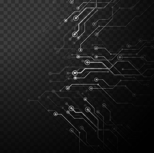 Grey technology background in processor\ style